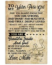TO MY WATER POLO GIRL- MOM 16x24 Poster front