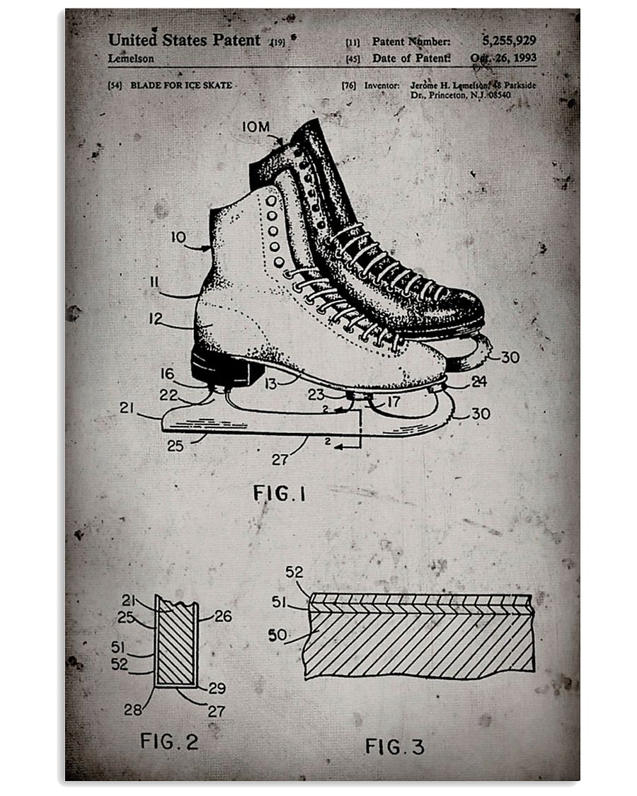 Skating shoes patent poster 11x17 Poster