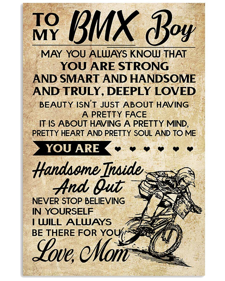 TO MY  BMX Boy - Mom 11x17 Poster