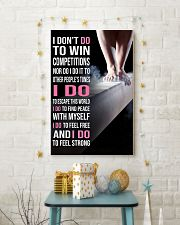 Gymnastics I DON'T DO TO WIN COMPETITION 11x17 Poster lifestyle-holiday-poster-3