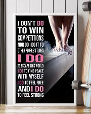 Gymnastics I DON'T DO TO WIN COMPETITION 11x17 Poster lifestyle-poster-4