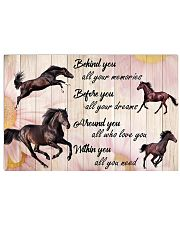 Horse - Behind You All Your Memories 17x11 Poster front