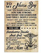 TO MY Nurse Boy - Mom 16x24 Poster front