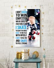 5- I DON'T SKATE TO WIN COMPETITION - ROLLER DERB  11x17 Poster lifestyle-holiday-poster-3
