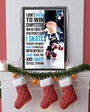 5- I DON'T SKATE TO WIN COMPETITION - ROLLER DERB  11x17 Poster lifestyle-holiday-poster-4