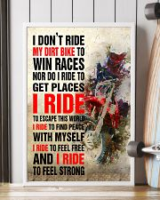 I DON'T RIDE MY DIRT BIKE TO WIN RACES POSTER 16x24 Poster lifestyle-poster-4