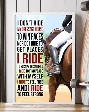 I DON'T RIDE MY DRESSAGE HORSE TO WIN RACES 11x17 Poster lifestyle-poster-4