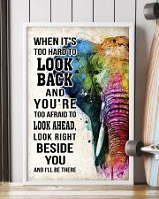 WHEN IT'S TOO HARD TO LOOK BACK ELEPHANT POSTER  11x17 Poster lifestyle-poster-4