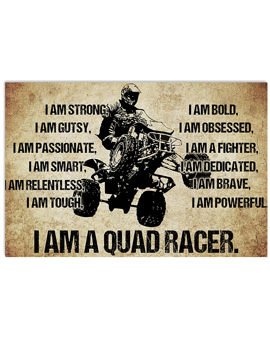 9-I AM A quad racer POSTER 17x11 Poster