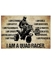 9-I AM A quad racer POSTER 17x11 Poster front