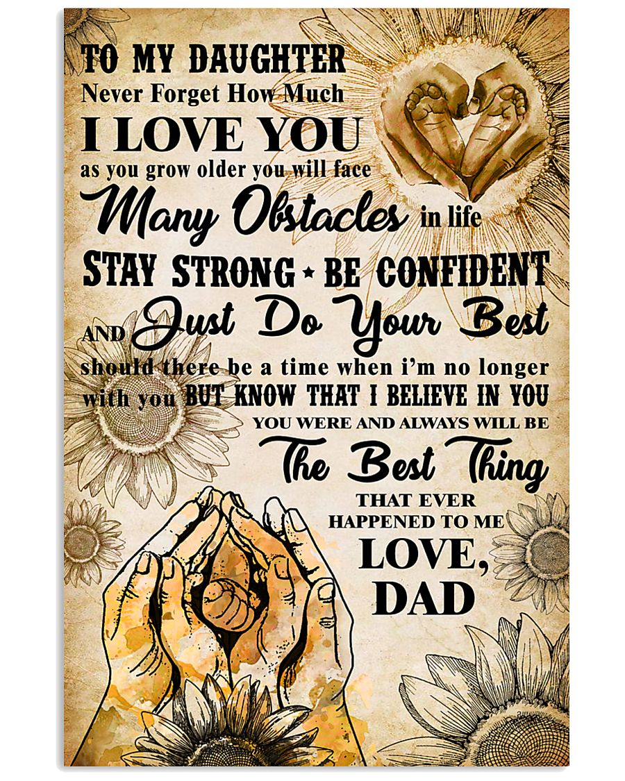 TO MY DAUGHTER - I LOVE YOU - FAMILY POSTER 11x17 Poster