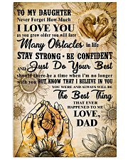 TO MY DAUGHTER - I LOVE YOU - FAMILY POSTER 11x17 Poster front