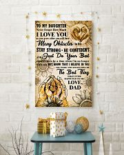 TO MY DAUGHTER - I LOVE YOU - FAMILY POSTER 11x17 Poster lifestyle-holiday-poster-3