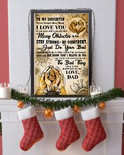 TO MY DAUGHTER - I LOVE YOU - FAMILY POSTER 11x17 Poster lifestyle-holiday-poster-4