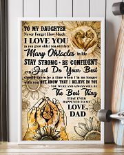TO MY DAUGHTER - I LOVE YOU - FAMILY POSTER 11x17 Poster lifestyle-poster-4