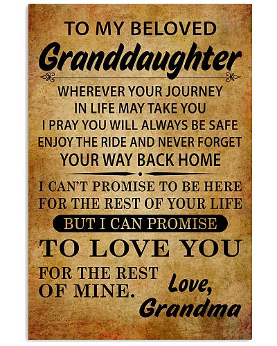 TO MY BELOVED GRANDDAUGHTER GRANDMA