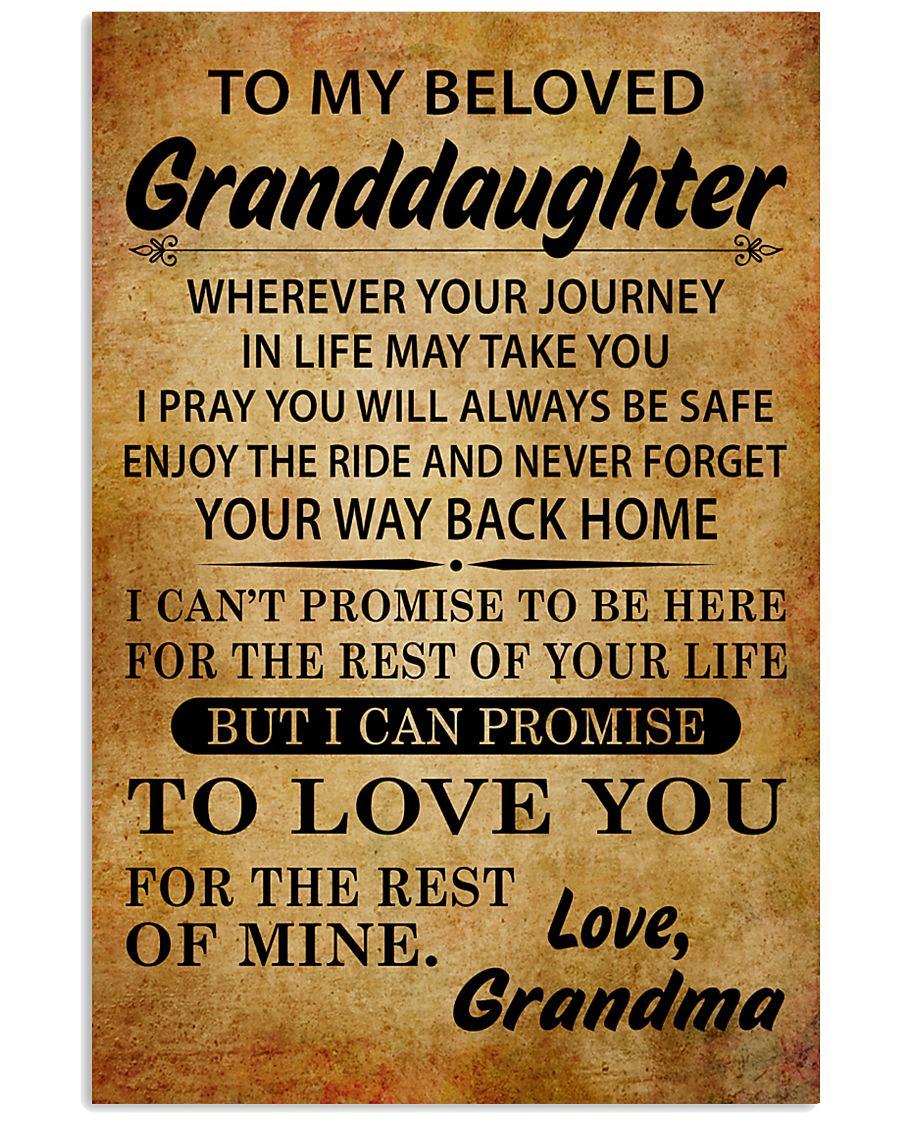 TO MY BELOVED GRANDDAUGHTER GRANDMA 11x17 Poster