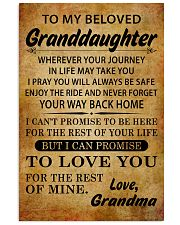 TO MY BELOVED GRANDDAUGHTER GRANDMA 11x17 Poster front