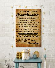 TO MY BELOVED GRANDDAUGHTER GRANDMA 11x17 Poster lifestyle-holiday-poster-3