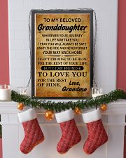 TO MY BELOVED GRANDDAUGHTER GRANDMA 11x17 Poster lifestyle-holiday-poster-4