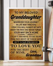 TO MY BELOVED GRANDDAUGHTER GRANDMA 11x17 Poster lifestyle-poster-4