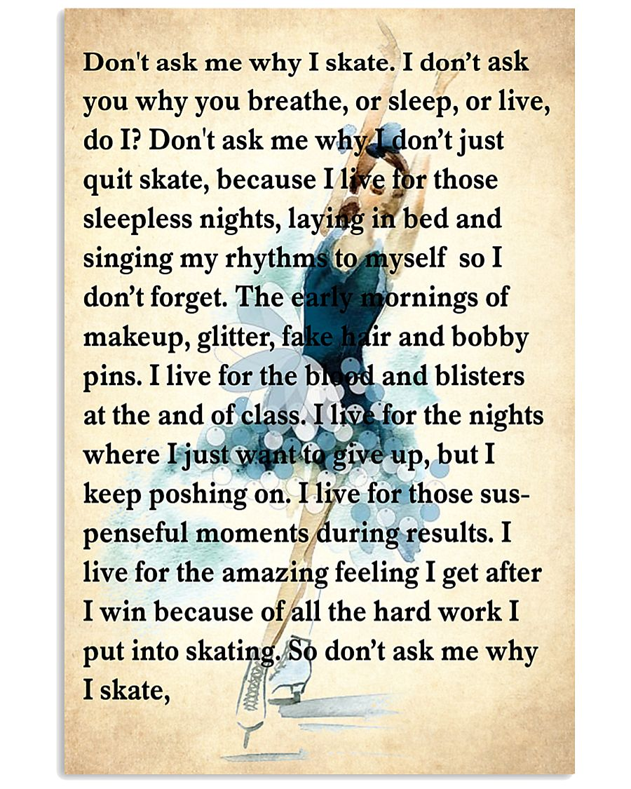3-skating- dont ask me why poster KD 2 16x24 Poster