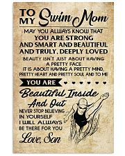 TO MY SWIM MOM SON 16x24 Poster front