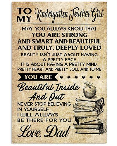 TO MY KINDERGARTEN TEACHER GIRL DAD
