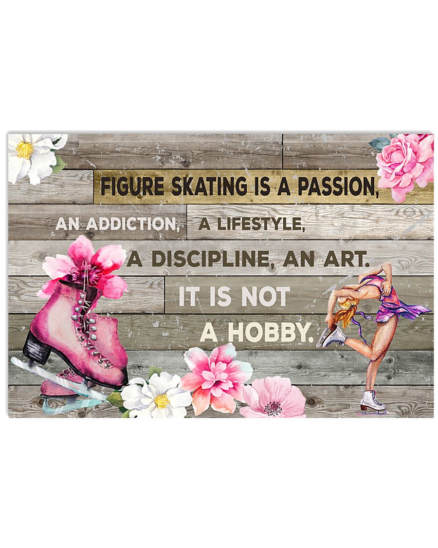 FIGURE SKATING IS PASSION POSTER 17x11 Poster