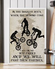 BMX Fight Them Together Poster 11x17 Poster lifestyle-poster-4