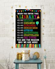 WHEN YOU ENTER THIS LIBRARY 11x17 Poster lifestyle-holiday-poster-3