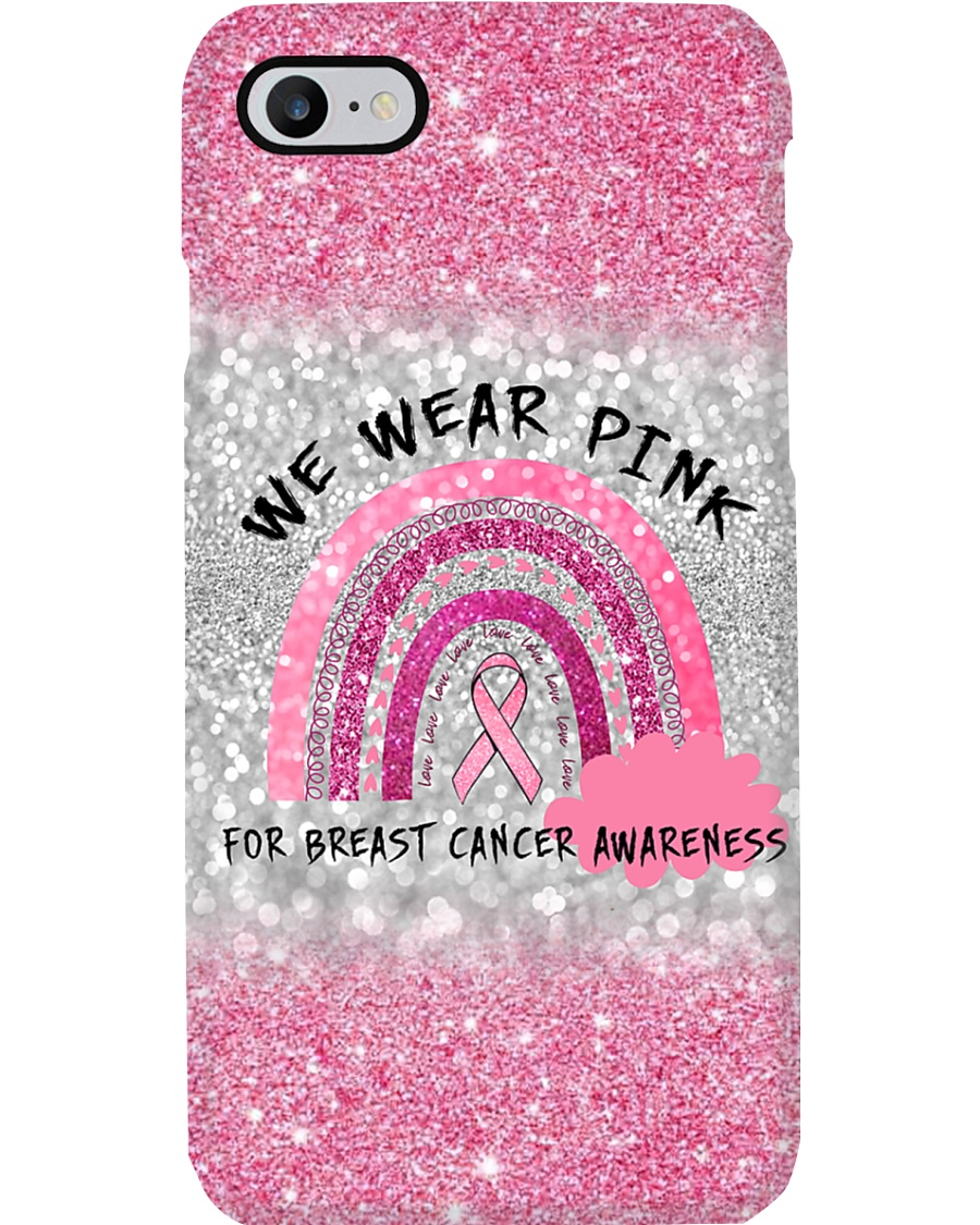Breast Cancer - We Wear Gold For Breast Cancer TL Phone Case