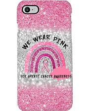 Breast Cancer - We Wear Gold For Breast Cancer TL Phone Case i-phone-8-case