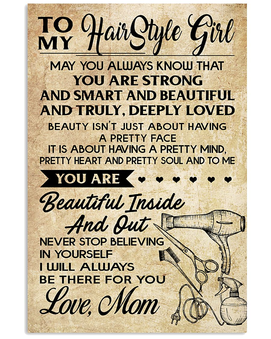 TO MY HAIR STYLE GIRL POSTER 11x17 Poster