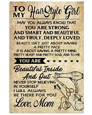 TO MY HAIR STYLE GIRL POSTER 24x36 Poster front
