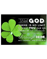 IRISH - WITH GOD 17x11 Poster front