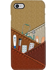 nurse tool with leather phone case LQT Phone Case i-phone-8-case
