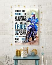 25- I DON'T RIDE MY BIKE TO WIN RACES KDH 11x17 Poster lifestyle-holiday-poster-3