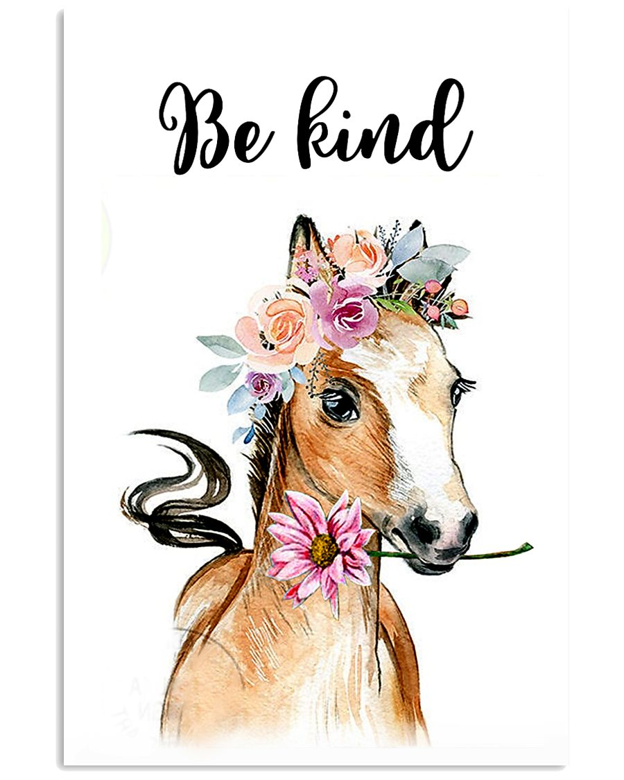 HORSE BE KIND POSTER 11x17 Poster