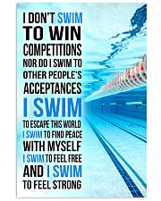 I DON'T SWIM TO WIN COMPETITIONS 11x17 Poster front