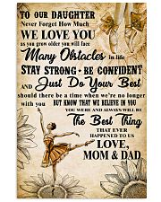 3 TO OUT DAUGHTER - WE LOVE YOU- Dance 11x17 Poster front