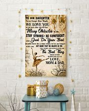 3 TO OUT DAUGHTER - WE LOVE YOU- Dance 11x17 Poster lifestyle-holiday-poster-3