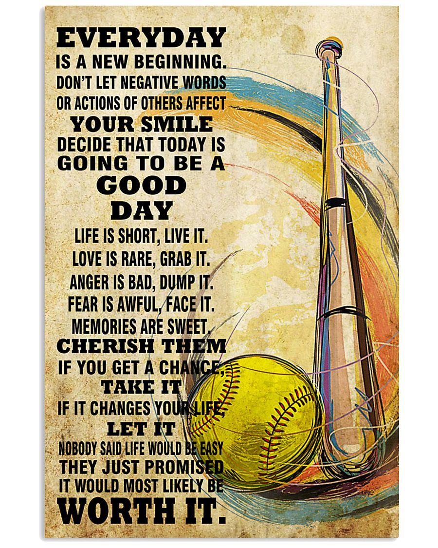 softball EVERYDAY IS A NEW 11x17 Poster