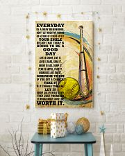 softball EVERYDAY IS A NEW 11x17 Poster lifestyle-holiday-poster-3