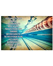 SWIMMING - YOUR CHARACTER IS MORE IMPORTANT 17x11 Poster front