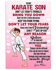 KARATE SON - DON'T LET TODAY'S TROUBLES POSTER 11x17 Poster front