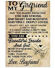TO MY GIRLFRIEND-BOYFRIEND 16x24 Poster front