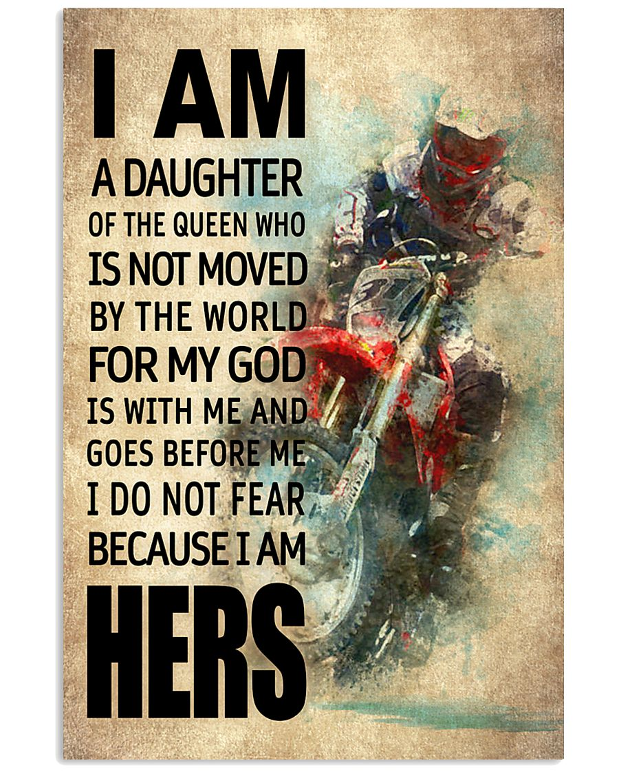 MOTOCROSS DAUGHTER - FOR MY GOD 16x24 Poster