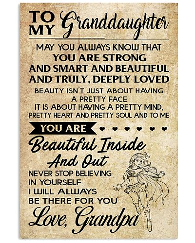 TO MY granddaughter- grandpa