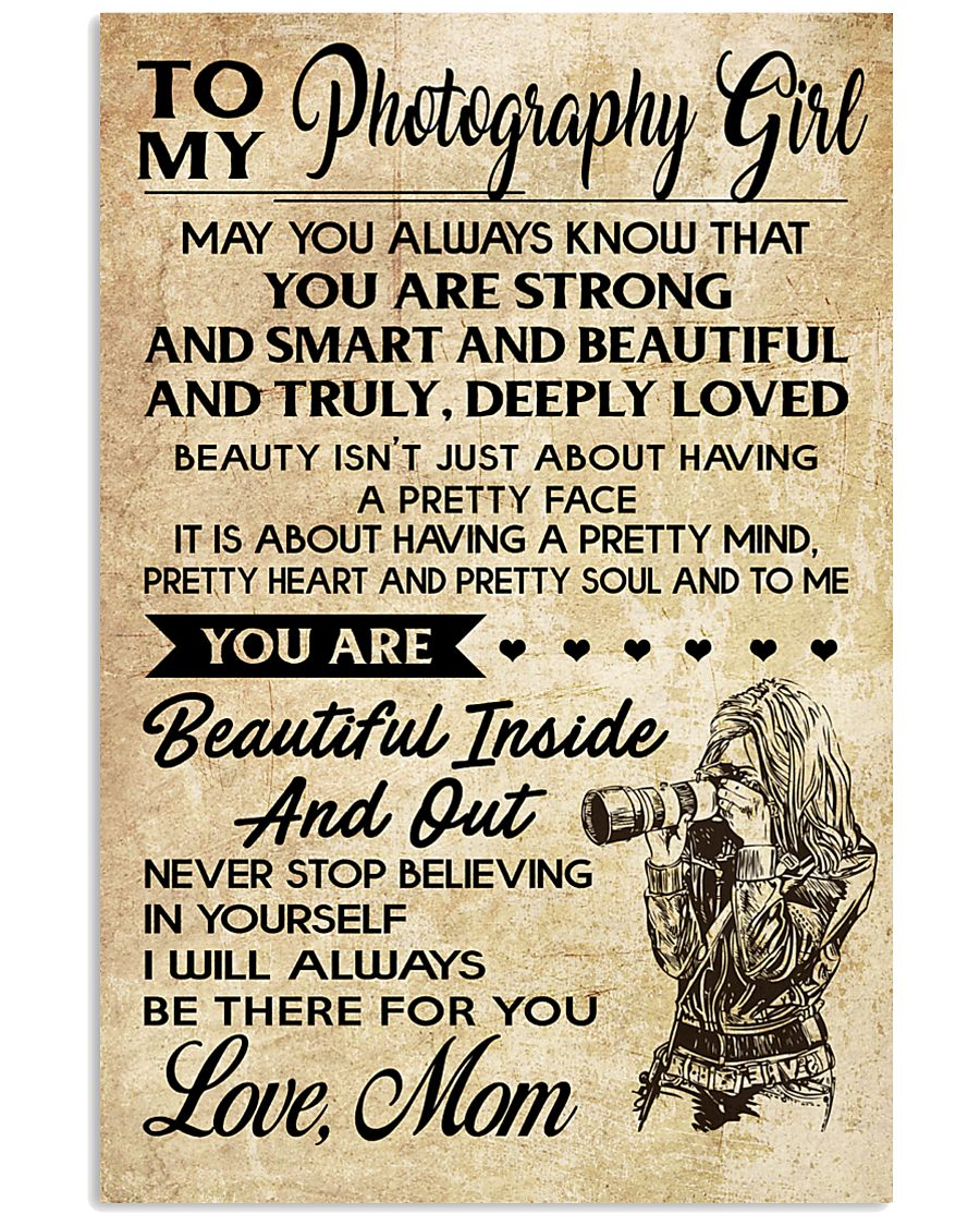TO MY PHOTOGRAPHY GIRL 16x24 Poster